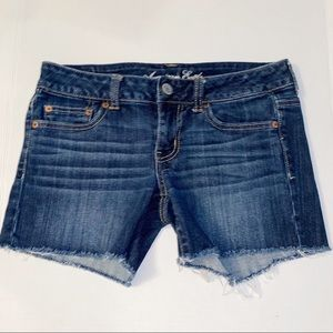 American Eagle Distressed Jean Shorts Stretch 4